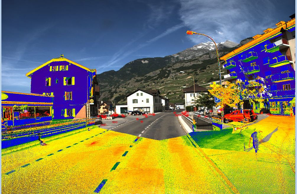 Mobile Mapping - Centre du village de Vétroz